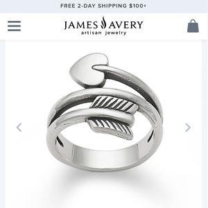 James Avery Heart & Arrow ring